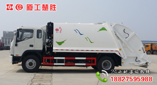 江淮帅铃12方压缩式垃圾车图片